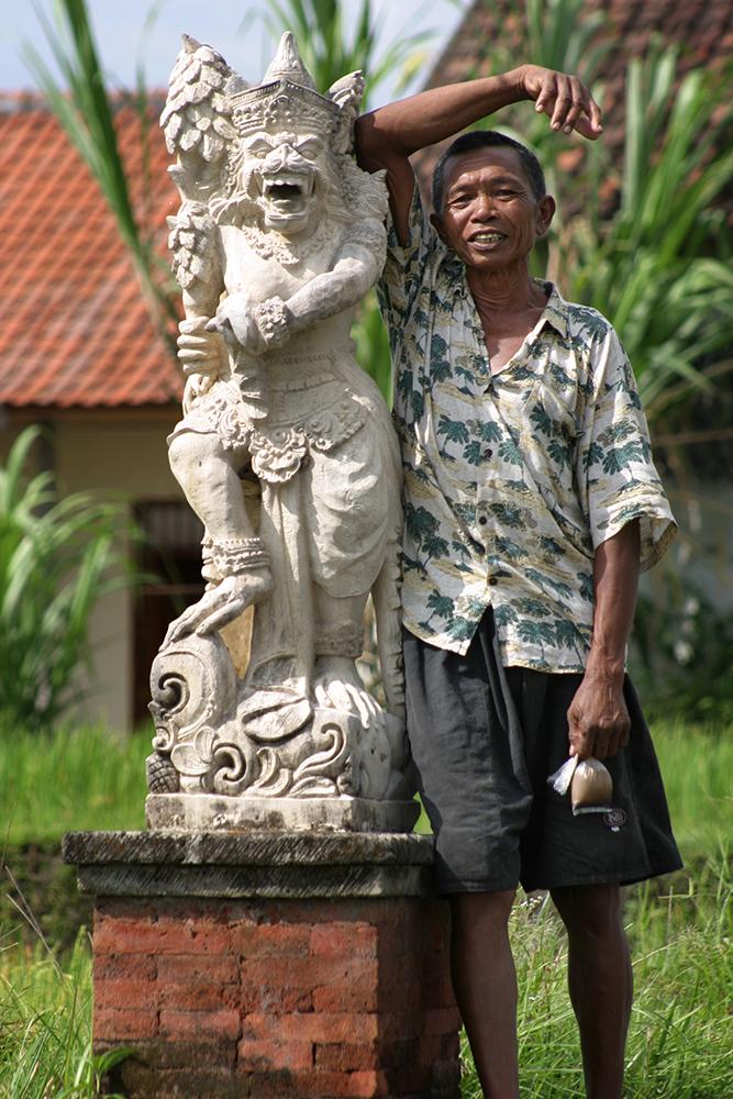 Friendly Rice Worker in Ubud