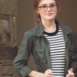 #OOTD: Striped Dress & Military Jacket