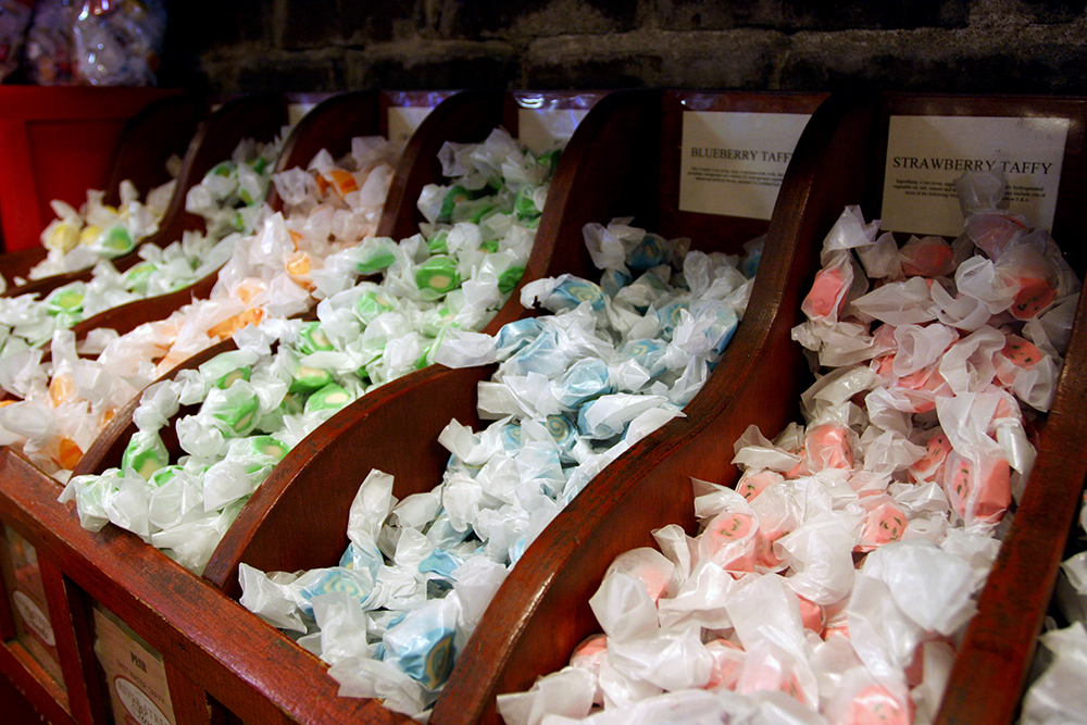 Savannah's Can't-Miss Candy Shop: River Street Sweets - Individually wrapped salt water taffy