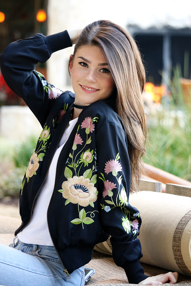 Embroidered bomber jackets are one of the hottest trends this season and for good reason; they're extremely versatile.