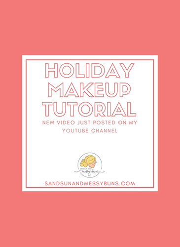 New video alert! There's a cheerful new holiday makeup tutorial posted on my YouTube channel.