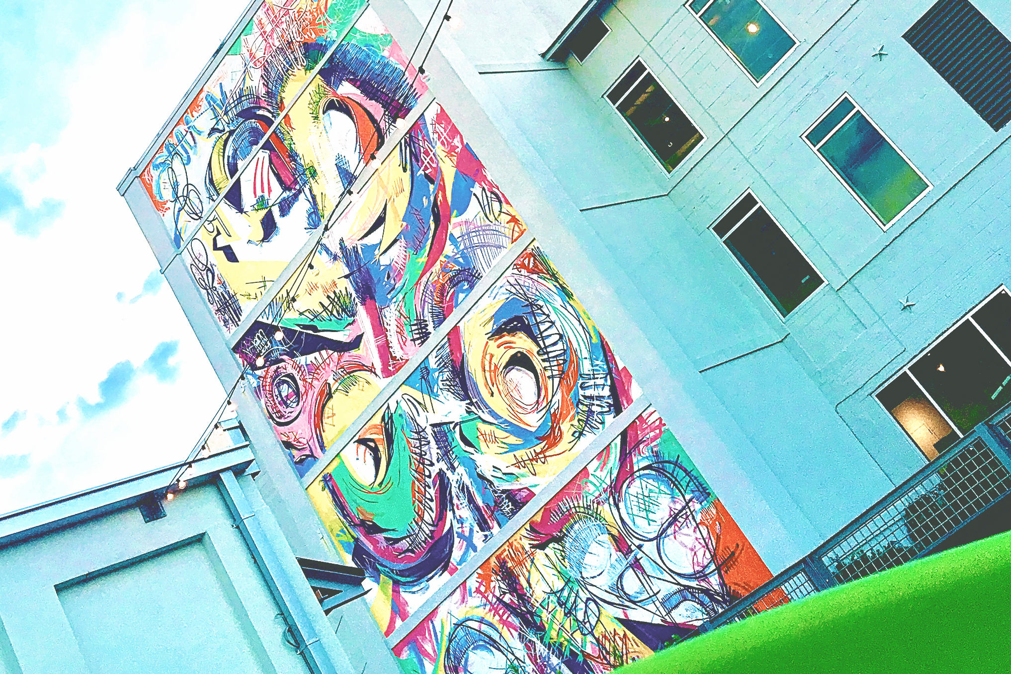 Savannah Mural Guide: SCAD's Montgomery Hall has one of the largest and most colorful murals in Savannah.