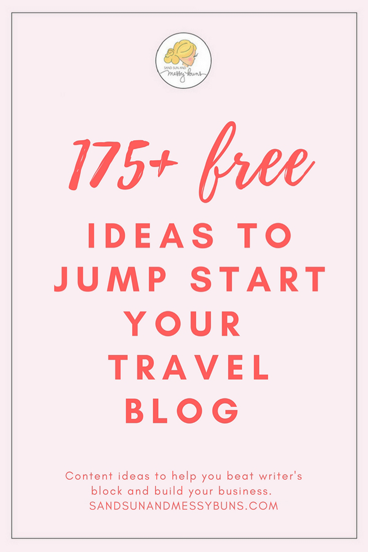 Wondering how to start a travel blog? Here are 175+ free ideas to write about! #bloggingtips #travelblog #workfromhome #content