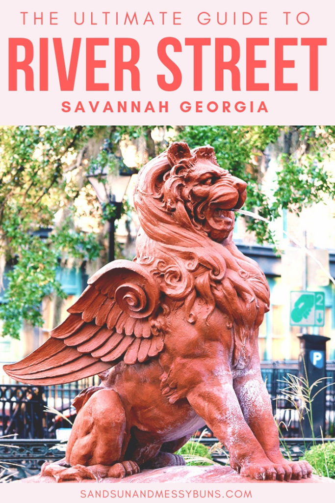 Definitely pinning! Complete guide to all the must-see spots on River Street Savannah GA.