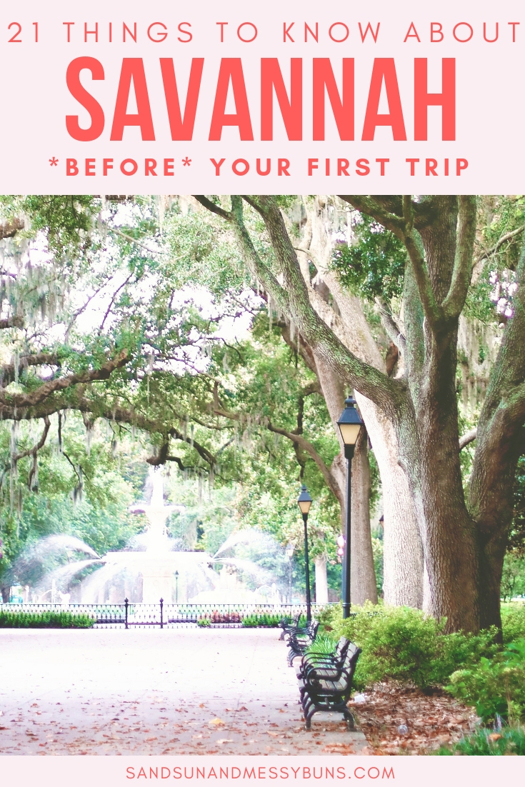 Here are 21 helpful tips for first-time visitors to Savannah GA #savannah #traveltips