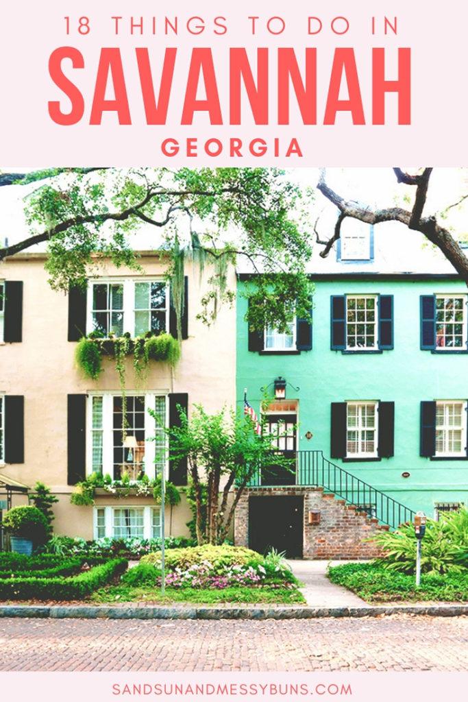 Interactive bucket list of things to do in Savannah Georgia in 2018. #savannah #visitsavannah