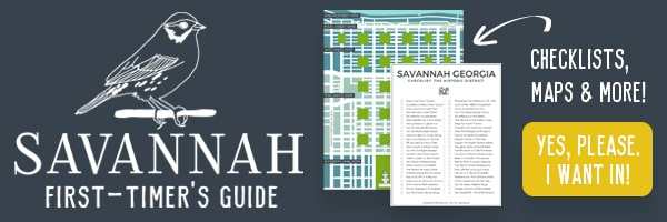 Opt-in image for Savannah First-Timer's Guide - charcoal grey background and white outlined sketch of a sparrow - with maps and checklists displayed.